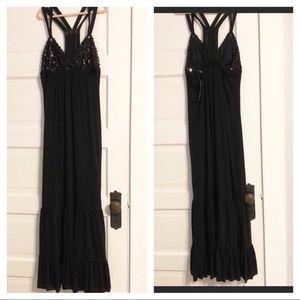 Johnny Martin NWT Black Sequin Maxi Dress - M